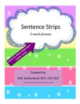 2 Word Sentence Strips