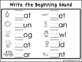 2 Write the Beginning Sounds Worksheets. Preschool-KDG Han