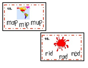 2 Write the Rooms or Task Cards (Beginning Sounds and Middle Vowels))