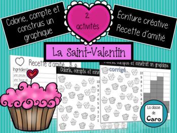 2 activités - Math et Écrit - Saint-Valentin (FRENCH FSL FLE)