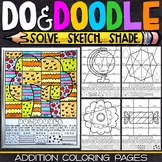 Addition Coloring Pages | 2 and 3 Digit Addition Worksheets