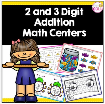 2 and 3 Digit Addition Math Centers