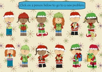 Christmas Addition 2 and 3 Digit Mixed Practice Smart Board Lesson