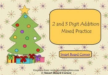Christmas Addition 2 and 3 Digit Mixed Practice Smart Boar