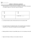 2 and 3 Digit Addition/Subtraction Assessment