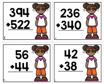2 and 3 Digit Addition Task Cards