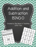 2 and 3 Digit Addition and Subtraction BINGO - 9 Different Games  FUN!!!!
