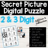 2 and 3 Digit Addition and Subtraction SECRET PICTURE PUZZ