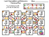 2 and 3 Digit Addition and Subtraction With Regrouping Christmas Math Maze
