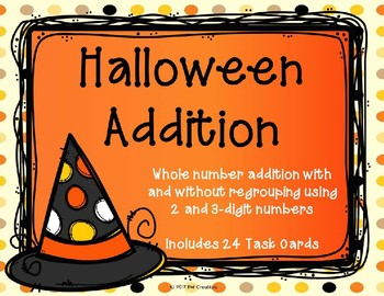 2 and 3 Digit Additon with and without Regrouping {Halloween Theme}