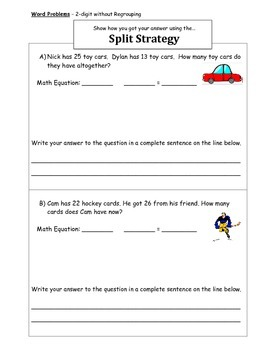 2 and 3-Digit Horizontal Addition Worksheets