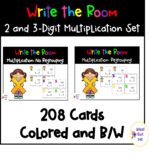 2 and 3-Digit Multiplication Write the Room Set