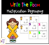 2 and 3 Digit Multiplication w/ Regrouping (Write the Room)