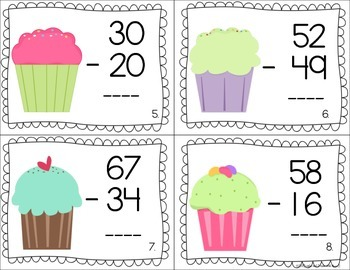 2 and 3 Digit Subtraction (with and without regrouping)