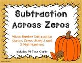 2 and 3 Digit Subtraction Across Zeroes {Autumn Theme}