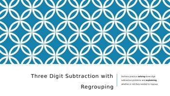 2 and 3 Digit Subtraction Partner PowerPoint