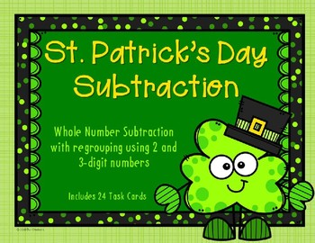 2 and 3 Digit Subtraction {St. Patrick's Day}