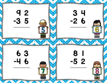 2 and 3 Digit Subtraction Task Cards