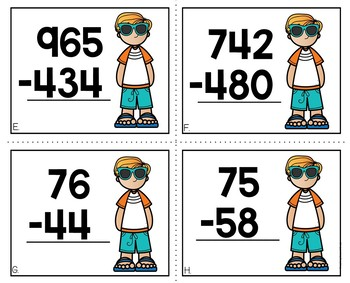 2 and 3 Digit Subtraction With and Without Regrouping