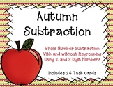 2 and 3 Digit Subtraction with and without Regrouping {Autumn}