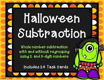 2 and 3 Digit Subtraction with and without Regrouping {Halloween Theme}