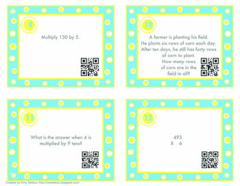 MIF Chapter 7 Multiplication Review Task Cards - 3rd Grade Math In Focus