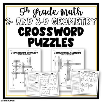 2 and 3 Dimensional Geometry Crossword Puzzles