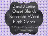 2 and 3 Letter Consonant Blend Nonsense Word Pocket Chart Cards
