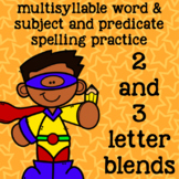2 and 3 Letter Blends - Multisyllable Words - 2nd Grade Spelling - Superheroes