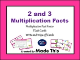 2 and 3 Multiplication facts teaching and learning cards