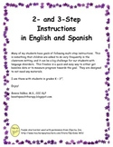 2- and 3-Step Instructions in English and Spanish