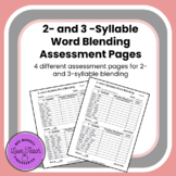 2- and 3-Syllable Word Blending Assessment Pages
