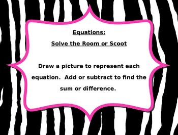 2 and 3 digit equations - Solve the Room or Scoot