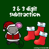 2 and 3 digit subtraction Christmas-themed
