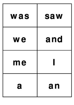 2 and 3 letter word flash cards