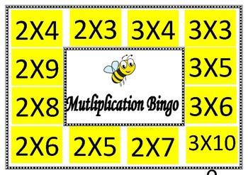 2 and 3 times table bingo