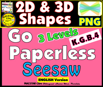 2D and  3D Shapes PNG Templates for Seesaw    English version
