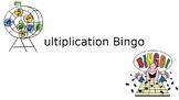 2 by 1 Digit Multiplication Bingo Game