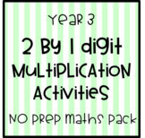 2 by 1 Digit Multiplication Pack