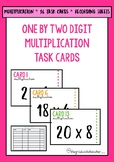 2 by 1 Digit Multiplication Task Cards and Recording Sheet