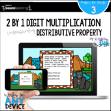 2 by 1 Digit Multiplication Using Distributive Property BO