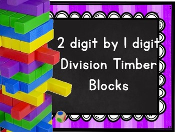 2 by 1 Division with and without Remainders Timber Boxes