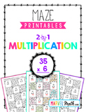 2 by 1 Multiplication Maze Printable by Marvel Math