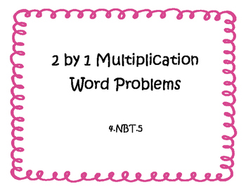 2 by 1 Multiplication Word Problems with QR Codes