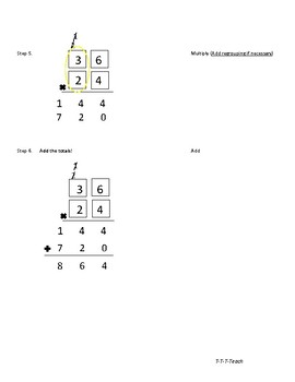 2 by 2 Digit Multiplication