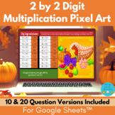 2 by 2 Digit Multiplication Thanksgiving Math Pixel Art Di