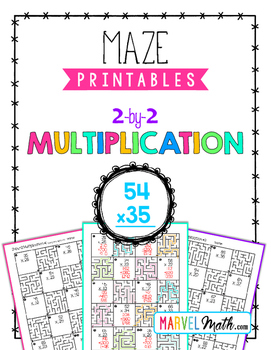 2 by 2 Multiplication Maze Printable by Marvel Math