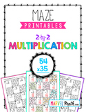 Distance Learning 2 by 2 Multiplication Maze Printable - 2