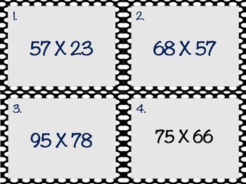2 by 2 Multiplication Task Cards