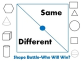 2-d 3-d Shape Battle-What is the Same or Different?